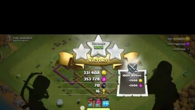 Clash of Clans town hall 7 Attack by Level 4 Balloons.