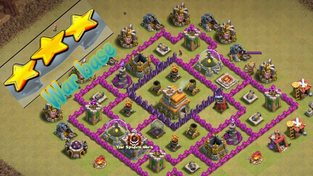 3 star on townhall 7max war attack clash of clans