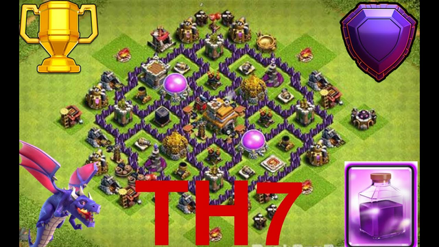 Clash of Clans || Th 7 vs th 7 || trophy push|| best dragon attack in coc