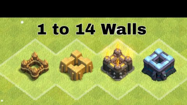All Level Walls Upgrading in Gems Clash Of Clans COC Gameplay