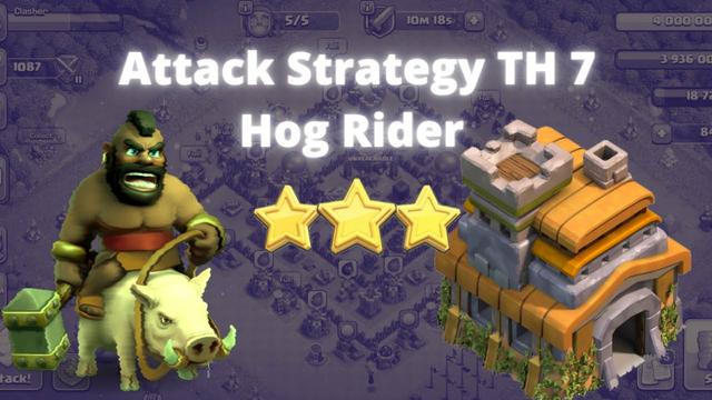 Cara Farming TH 7 Hog Rider | Strategi Farming Terbaik TH 7 | Clash of Clans