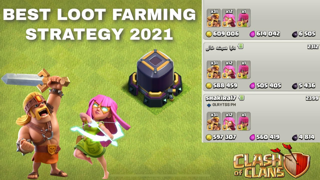 Clash of Clans - Best Loot Farming Strategy - February 2021