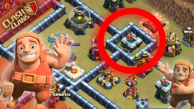 The 1-Building Compartment Trick | Clash of Clans Base Building