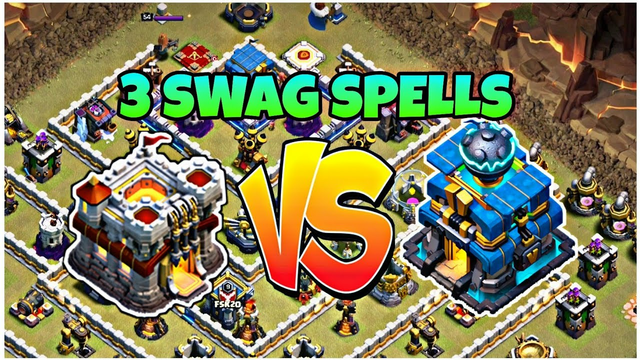 I ATTACKED TH12 WITH TH11 AND SWAGGED 3 SPELLS! | CLASH OF CLANS