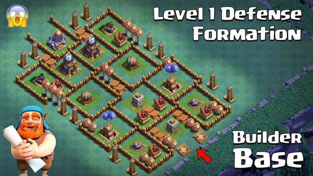 Level 1 Troops vs Level 1 Defense Formation | Clash of Clans | Builder Base