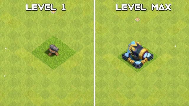Cannon Level Evolution - Clash Of Clans