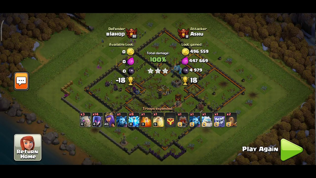 Clash of Clans: COC- ZapQuack with GoWitch Attack | 100% Loot