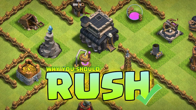 Advantage and Disadvantage of RUSH in Clash of Clans - COC