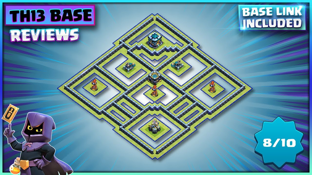 26 ATTACKS = 6 X 1 STARS!!! TH13 Base + TH13 Base Layout Link | Clash of Clans