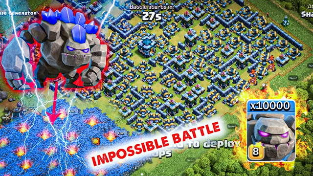 Clash of Clans impossible battle Golem from 1 to Full level  Full tx