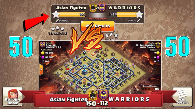 WOW!! Amazing War 2021! 50 Vs 50 Clan War Attack Full 3 Stars TH13 ( Clash of Clans )