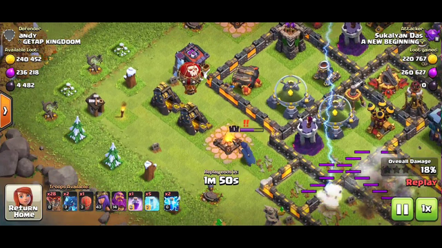 Clash oF Clans Strange Strategy (SS) #1. just LOOT a base with only Defense targeting troop(balloon)