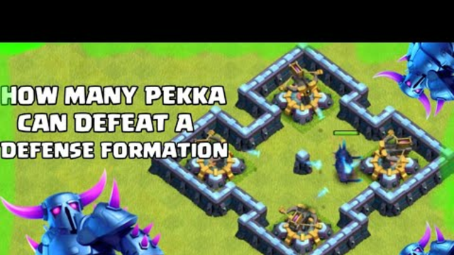 How Many P.E.K.K.A Can Destroy Full Defenses Formation On Coc   Clash Of Clans   