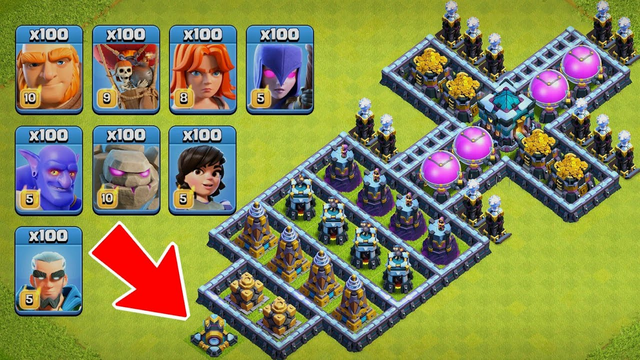 Who Can Survive This Difficult Defense Formation on Coc? Trap vs Troops