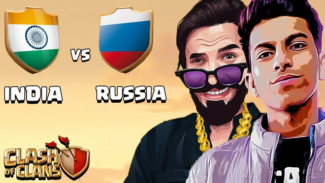 INDIA vs RUSSIA Live Clan War Clash of Clans - COC ft. @PAPA Mogambo. CK