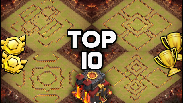 TOP 10 Unbeatable Town Hall 10 Bases With Copy Links -Best TH10 CWL WAR BASE /Trophy Base COC - 2021