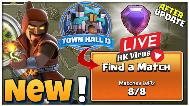 Th13 / Th12 Trophy Push Live / Challenge / coc live Topic / Clash of clans Live/  9k party COC 2021