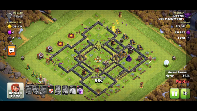 Clash of clans || attack on TownHall 10 || Got 3 star ||Ground attack