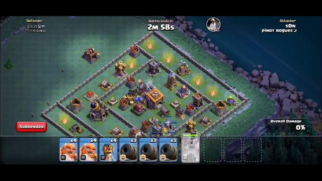 Pushing clan war games clash of clans