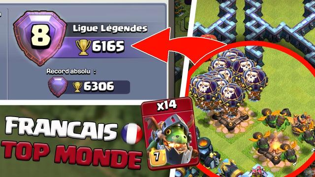 CE FRANCAIS EST TOP 8 MONDE ! Clash of clans !