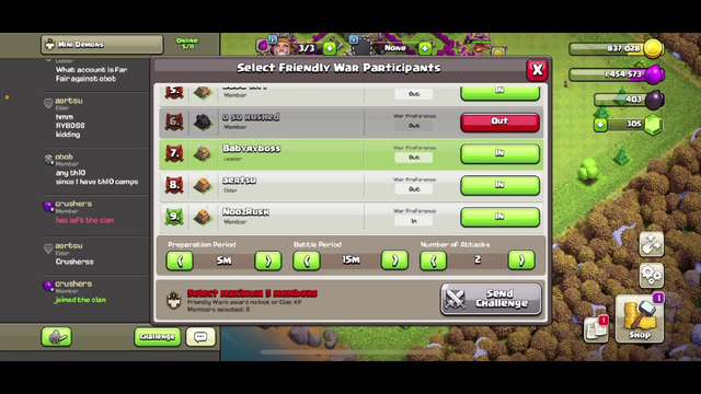 English clash of clans Live Streaming! Doing a friendly war with viewers! Episode 4!