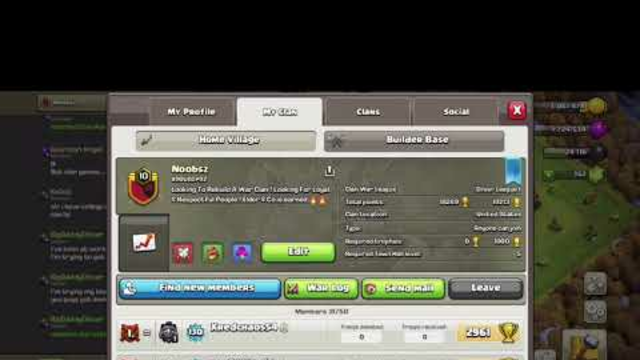 Clash Of Clans ! Need New Members ! Clan Wars & Clan Games ! Family Friendly!