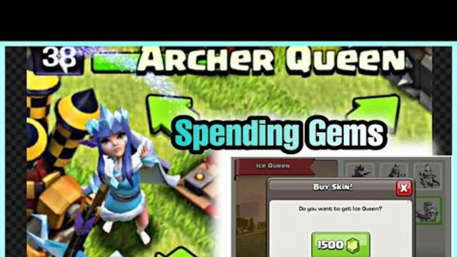 Spending 1500 Gems in Clash of Clans | Archer Queen Best Skin Ever |  Clash Of Clans #coc