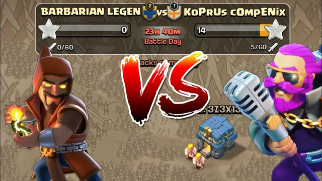 Clash Of Clans   BARBARIAN LEGEND   WAR   WATCHING YOUR BASE