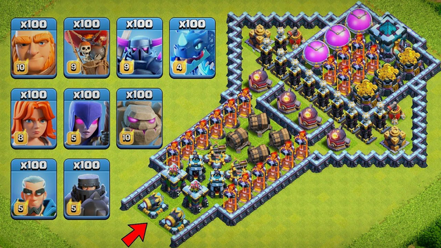 Ultimate Defense Formation Challenge | Defense vs Troops Clash of Clans