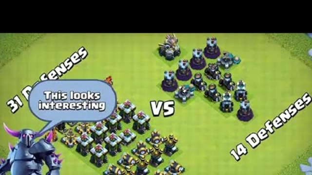 Clash of Clans Area Splash Defense Vs Single Target Defense Formation