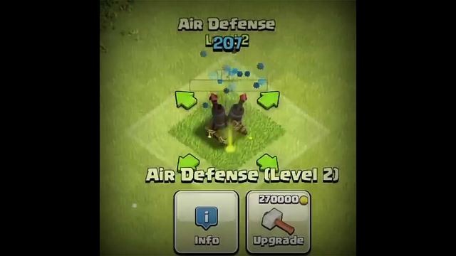 AirDefense upgrade to max level in clash of clans #Shorts