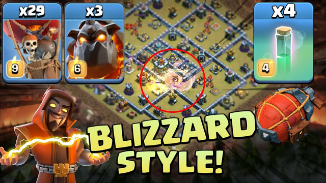 TH13 Blizzard LavaLoon Strategy Is Actually Very Strong - Clash Of Clans