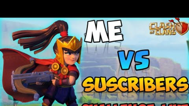 Me Vs SUBSCRIBERS Challenge Live| Clash Of Clans Live