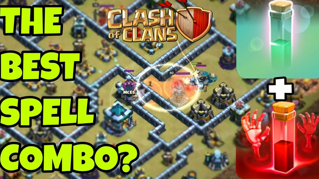 How to use Skeleton and Invisibility Spell Combination? | Best Spell Combination | Clash Of Clans