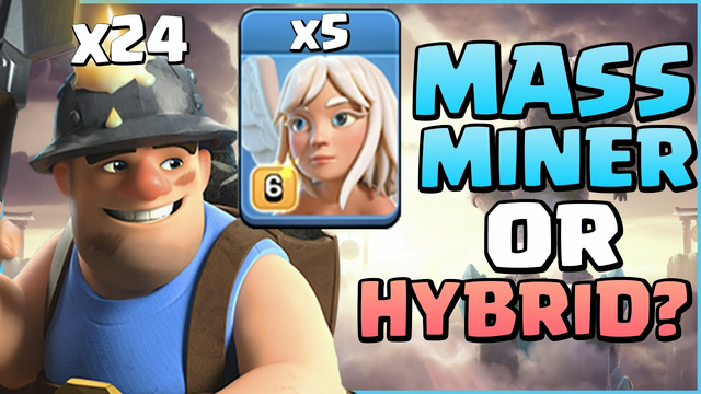 Is MASS Miner Better Than Hybrid? TH13 Mass Miner Attack 2021 - Clash Of Clans