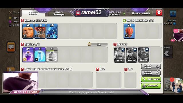 Watch me stream Clash of Clans on Omlet Arcade! GOOD AFTERNOON KSA 36WAR ATTACK