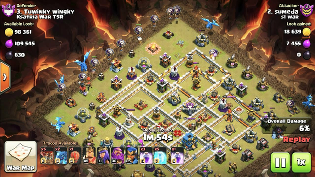 War Best Electro dragon Attack - Clash of clans COC