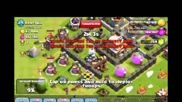 [2-7] Part 2/4 Let's Play Clash of Clans - Fools smashing their armies against my walls