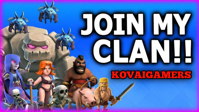 Join My New Clan In Clash Of Clans Live Stream || kovaigamer