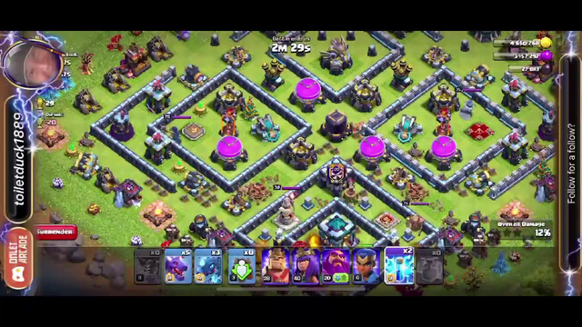 Clash of Clans - Double Trouble Event win 15
