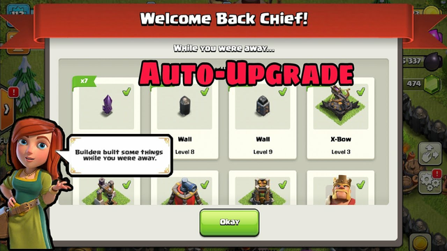 Live Proof:How To Enable Automatically Upgrade Feature On Our Village||Clash Of Clans