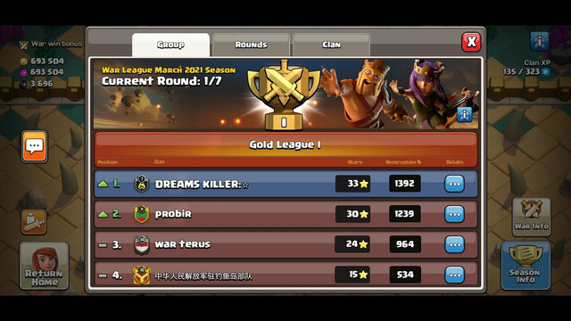 Clan War League Live Attack......Clash Of Clans...Coc