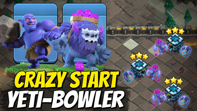 Th13 Awesome YETI BOWLER Attacks Dominate Day 1 CWL - Clash Of Clans CWL Strategy 2021