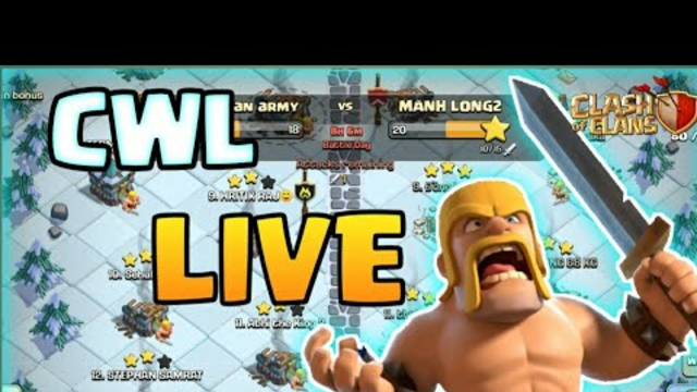 Clash Of Clans Cwl Live