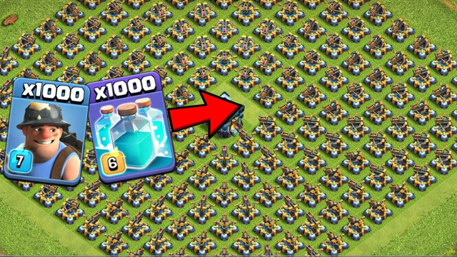 New Clash Of Clans Full Base Defense VS Unlimited Troops Fantastic Attack
