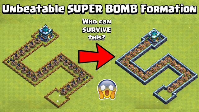 Epic Super Bomb TRAPS Formation | Traps Vs All Troops | Clash of Clans | COCGameplay | COC