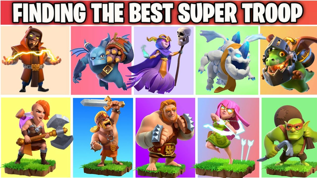 Finding The Best Super Troop In Clash of clans | Super Troop Comparison | COC