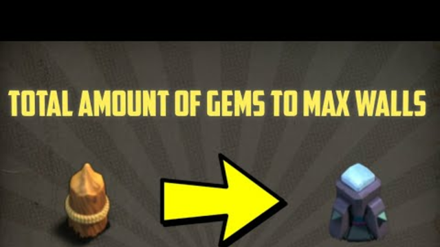 Total Amount OF Gems To Max Walls In Clash OF Clans #Shorts
