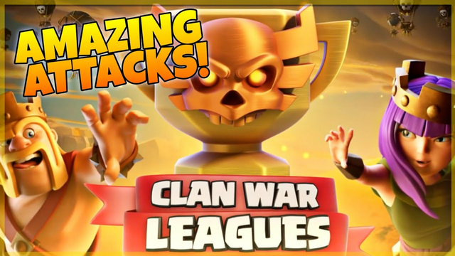 AMAZING TH13 CLAN WAR LEAGUES ATTACKS! | CLASH OF CLANS | THE EAGLE |