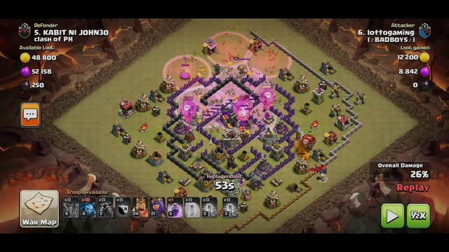 3 star war attack | CLASH OF CLANS